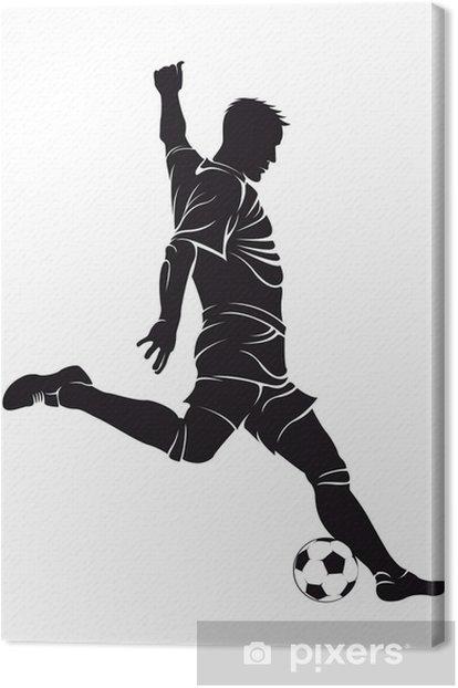 Tableau sur toile Football (soccer) joueur avec balle - Sports individuels