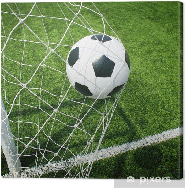 Tableau sur toile Football terrain de football stade herbe ligne balle texture de fond - Thèmes