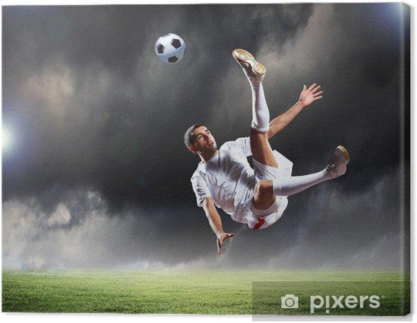 Tableau sur toile Footballeur - Sports individuels
