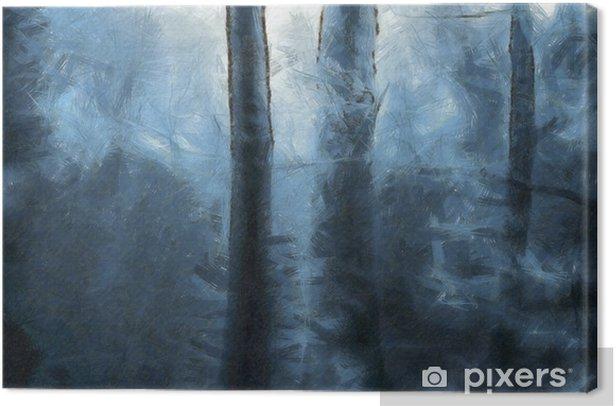 Tableau sur toile Forêt bleue - Paysages
