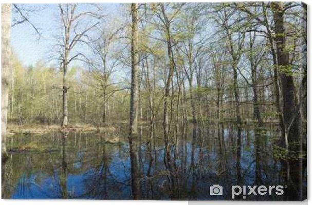 Tableau sur toile Forêt de Fontainebleau inondée - Paysages