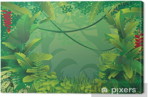 Tableau sur toile Forêt tropicale exotique - Plantes