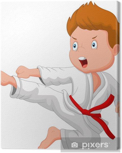 Tableau sur toile Formation petit garçon de karaté - Enfants