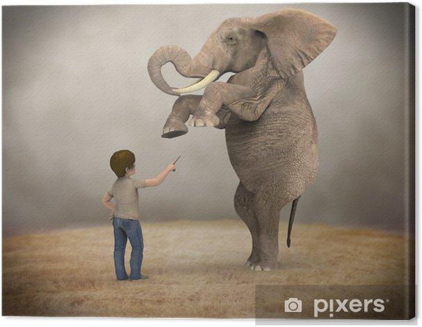 Tableau sur toile Formé d'éléphant - Réussite
