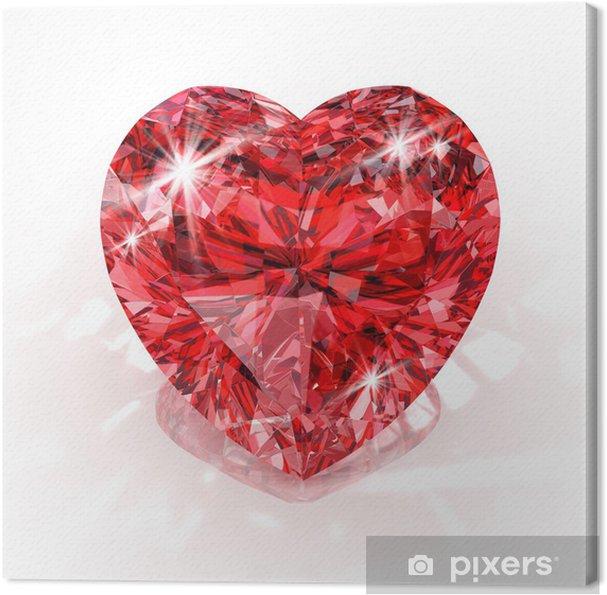Tableau sur toile Forme de coeur diamant - Fêtes internationales