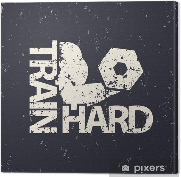 Tableau sur toile Former emblème dur, signe grunge, gymnase t-shirt imprimé, illustration vectorielle - Ressources graphiques