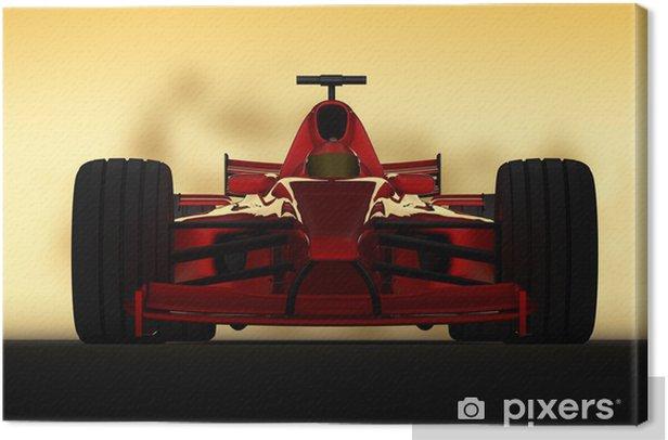 Tableau sur toile Formule 1 frontale de course - Thèmes