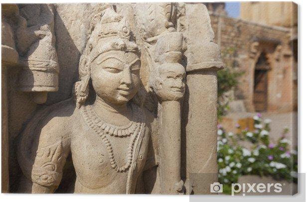 Tableau sur toile Fort de Gwalior, dans le Madhya Pradesh - statue. - Asie