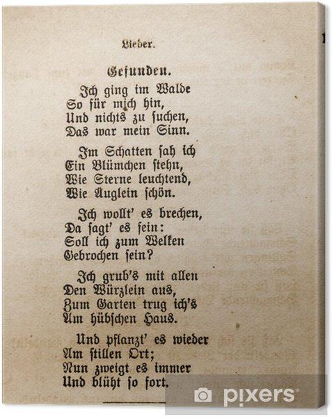 """Tableau sur toile """"Found"""" de Goethe - Cartes de vœux"""