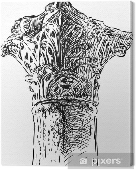 Tableau sur toile Fragment de colonne antique - Bâtiments publics