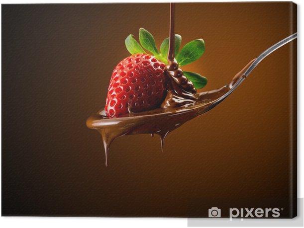 Tableau sur toile Fraises et chocolat - Thèmes