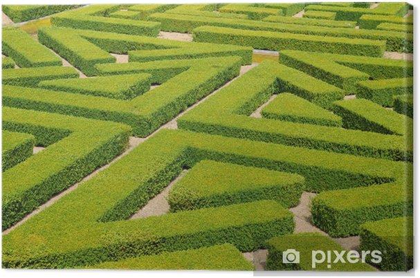 Tableau sur toile France, jardin à la française dans le Domaine de Villarceaux - Vacances