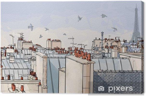 Tableau sur toile France - les toits de Paris -