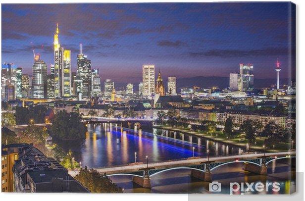 Tableau sur toile Francfort, Allemagne Cityscape - Europe