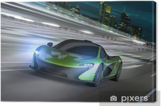 Tableau sur toile Frankfurt City Racer nuit -