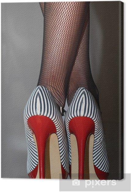 Tableau sur toile Frau sexy dans 5inch-High-Heels -