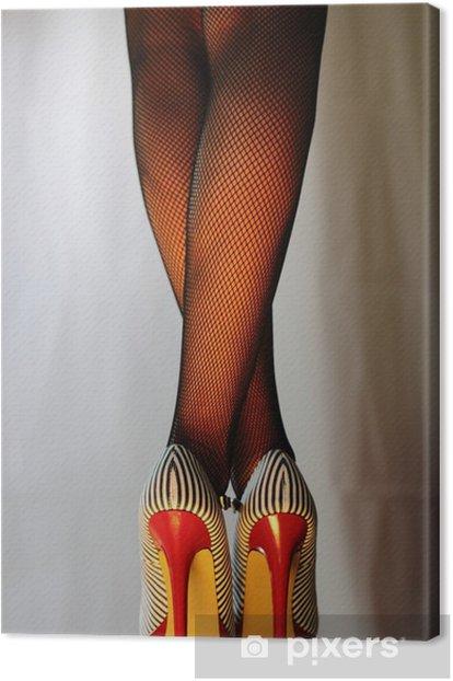 Tableau sur toile Frau sexy dans 5inch-High-Heels - Thèmes