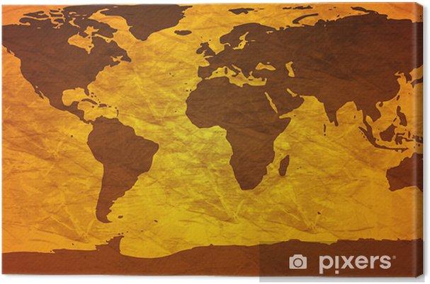 Tableau sur toile Froissé carte du monde - Thèmes