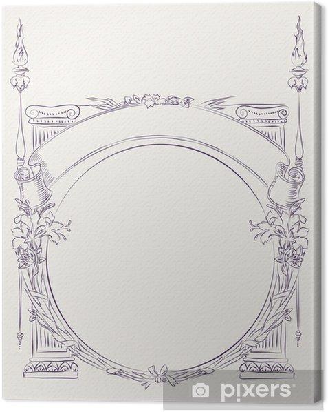 Tableau sur toile Frontière de style antique - Arrière plans