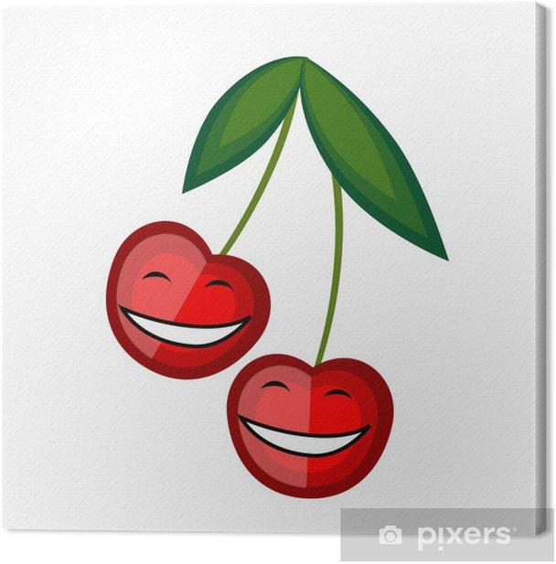 Tableau sur toile Fruits drôles souriant ensemble pour votre conception - Fruits