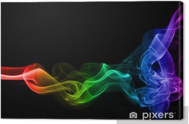 Tableau sur toile Fumée colorée - Thèmes