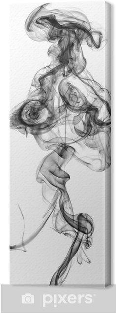 Tableau sur toile Fumée noire isolé sur fond blanc - Thèmes