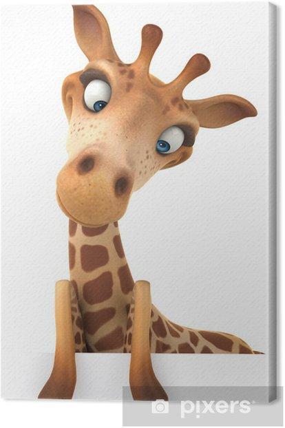 Tableau sur toile Fun girafe - Signes et symboles