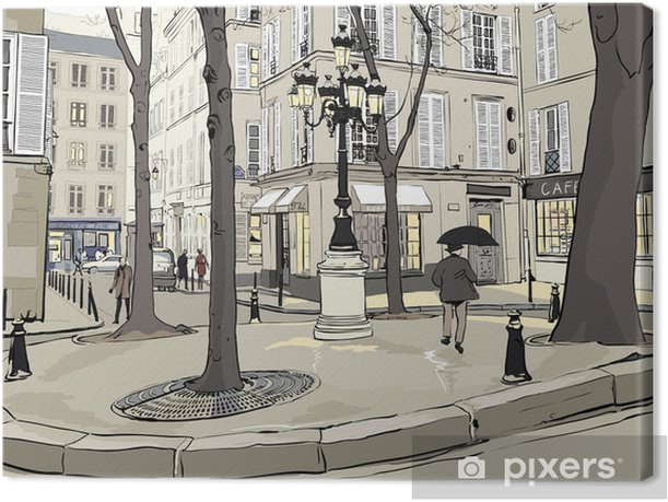 Tableau sur toile Furstemberg carré à paris - Villes