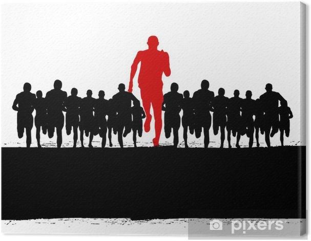 Tableau sur toile Gagner athlète - Réussite