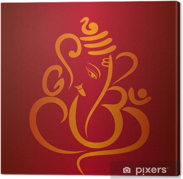 Tableau sur toile Ganesha, carte de mariage hindou, Royal Rajasthan, en Inde - Célébrations