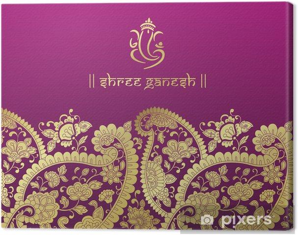 Tableau sur toile Ganesha, carte de mariage, Royal Rajasthan, en Inde - Célébrations