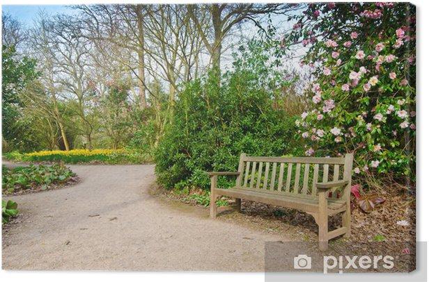 Tableau sur toile Garden path - Bâtiments publics