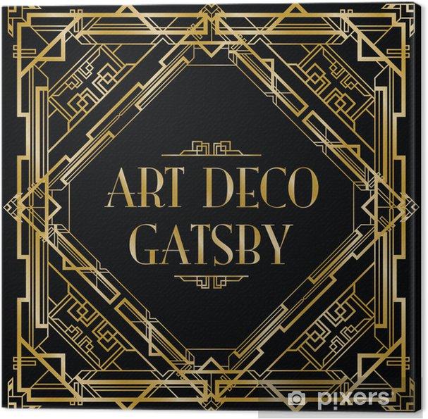 Tableau sur toile Gatsby art déco fond - Arrière plans