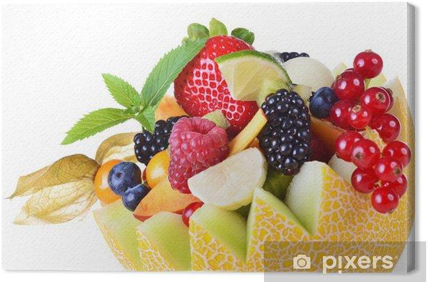 Tableau sur toile Gefüllte Melone - Repas