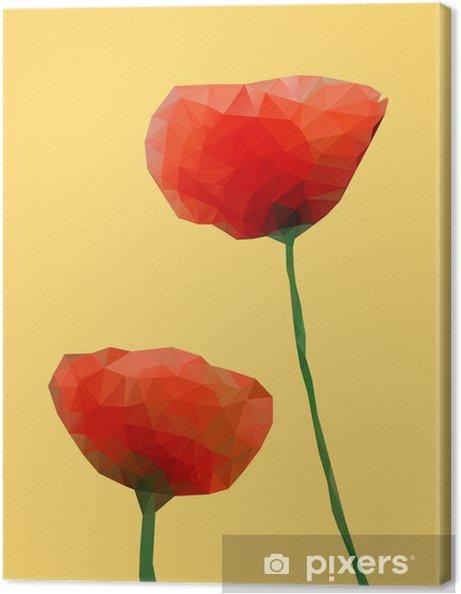 Tableau sur toile Géométrique fleur de pavot - Fleurs