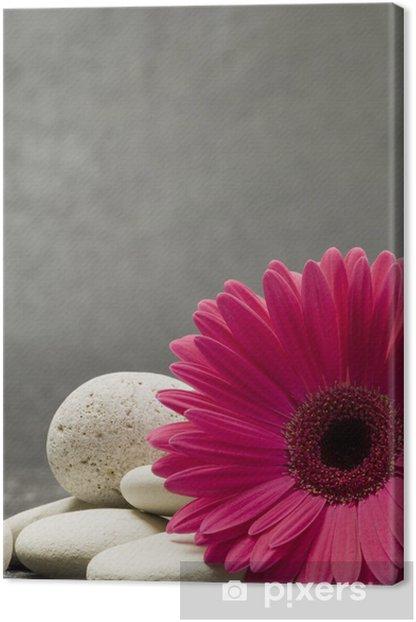 Tableau sur toile Gerbera rose - Fleurs