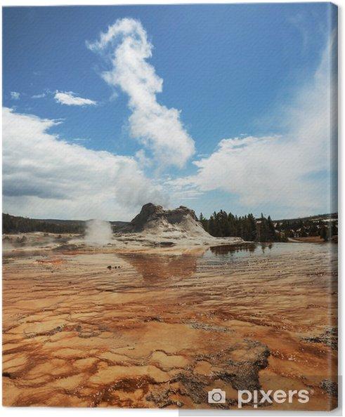 Tableau sur toile Geyser dans Yellowstone - Nature et régions sauvages