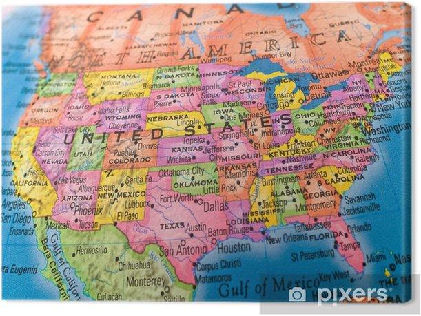 Tableau sur toile Global Studies - États-Unis - Thèmes