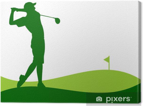 Tableau sur toile Golf - Joueur de donner un coup - Arrière plans