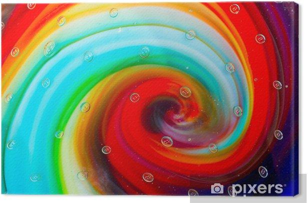 Tableau sur toile Gouttes de verre et la spirale de couleur - Signes et symboles