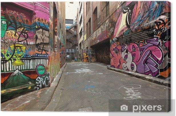 Tableau sur toile Graffiti Alley - Thèmes