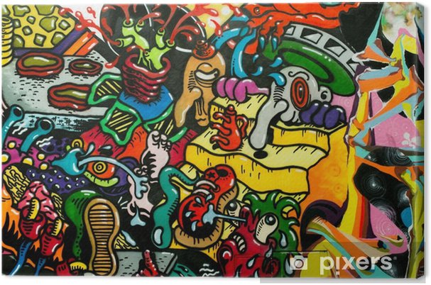 Tableau sur toile Graffiti art urbain - Passe-temps et loisirs