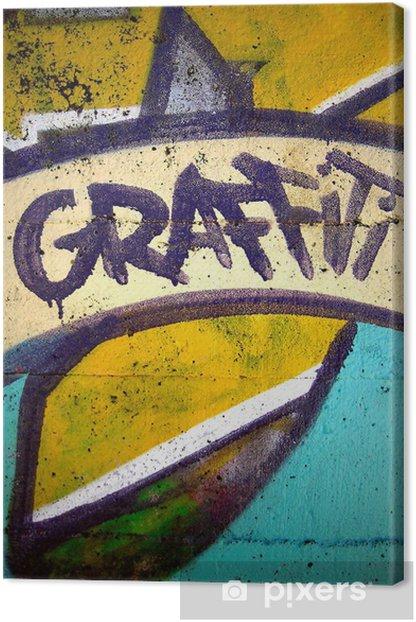 Tableau sur toile Graffiti - Thèmes