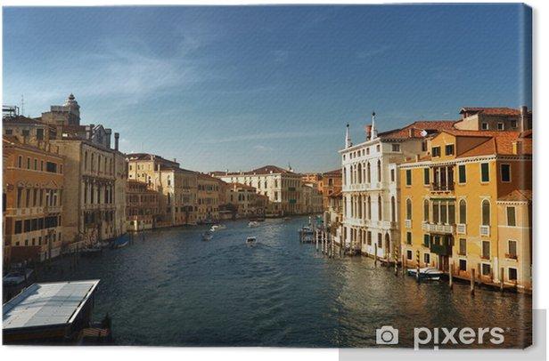 Tableau sur toile Grand Canal à Venise, Italie coucher du soleil - Villes européennes