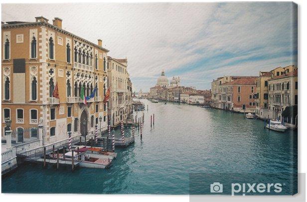 Tableau sur toile Grand Canal et Santa Maria della Salute, Venise, Italie. - Villes européennes