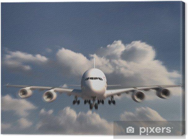 Tableau sur toile Grand Jumbo Jet atterrit - Thèmes