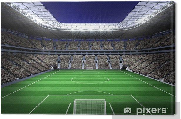 Tableau sur toile Grand stade de football avec des lumières - iStaging