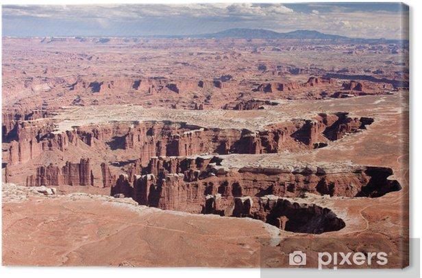 Tableau sur toile Grand View Point Overlook à Canyonlands National Park - Merveilles naturelles