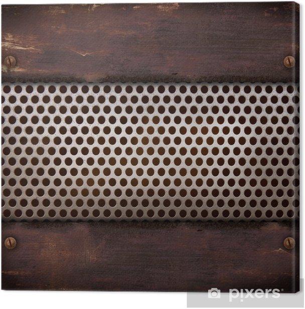 Tableau sur toile Grata metallica ruggine - Arrière plans