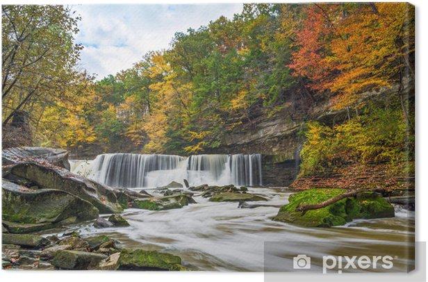 Tableau sur toile Great Falls avec la Grande-couleur - Thèmes